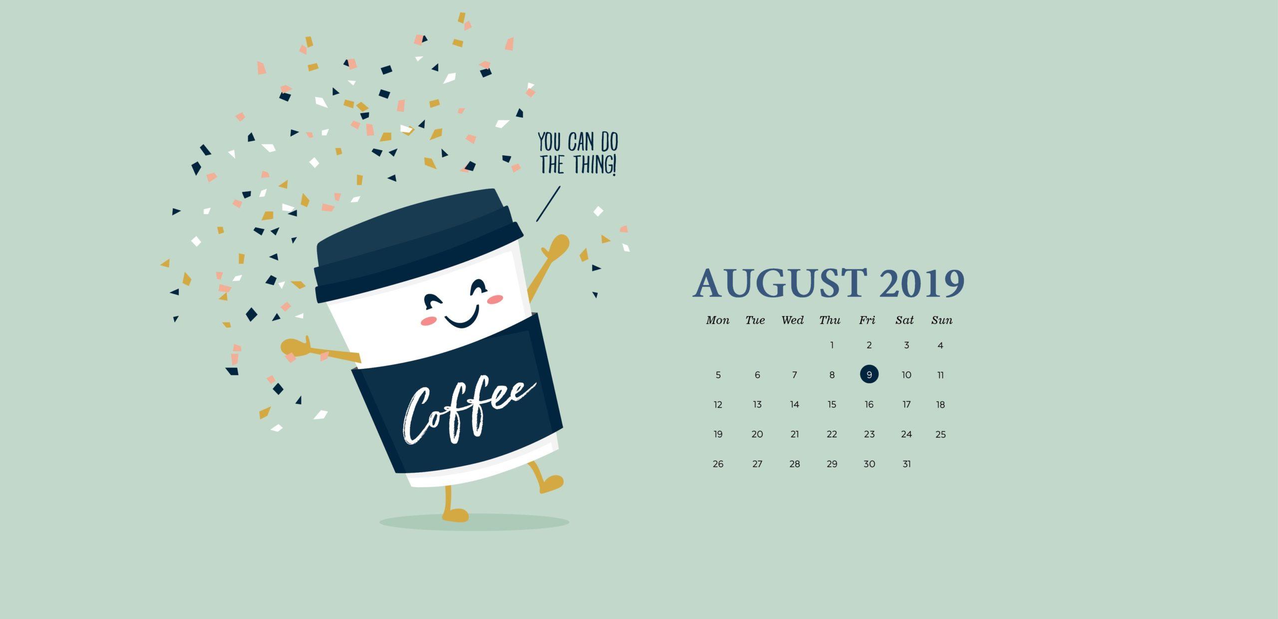 August 2019 Desktop Background Calendar