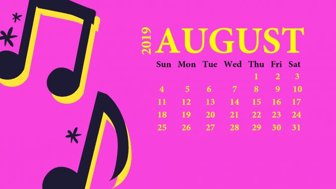 August 2019 Desktop Wallpaper With Calendar