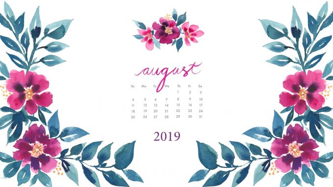 August 2019 Floral Desktop Wallpaper