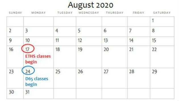 August 2020 Calendar with Holidays US