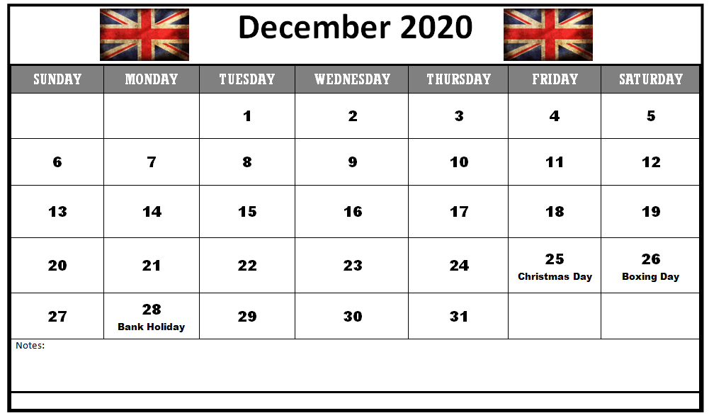 December 2020 Calendar with Holidays United States
