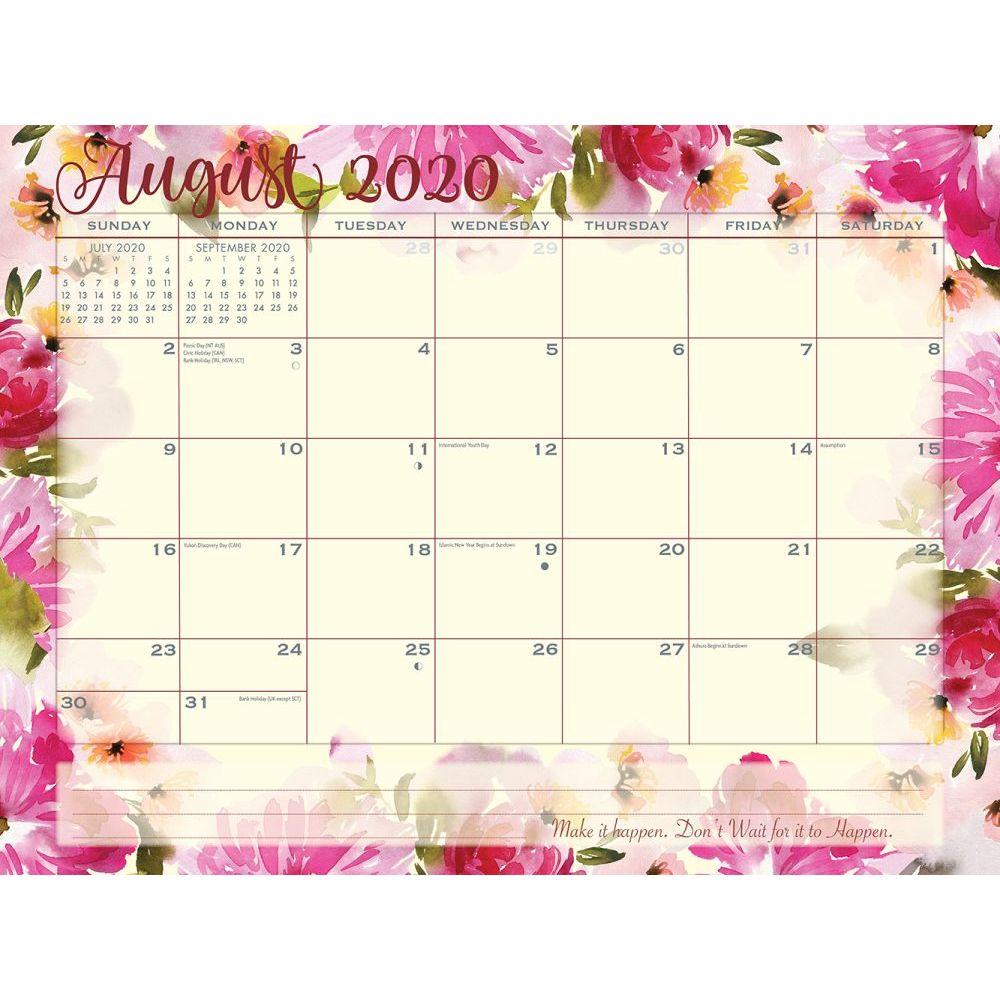 Floral August Calendar 2020