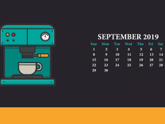 2019 Sept Calendar Wallpaper Design