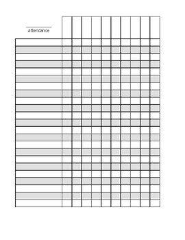 Blank Attendance Sheet