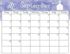 Cute September Calendar 2019