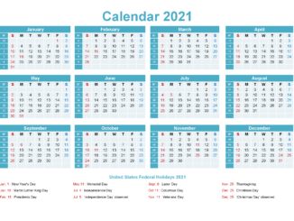 Editable 2021 Calendar Printable Template