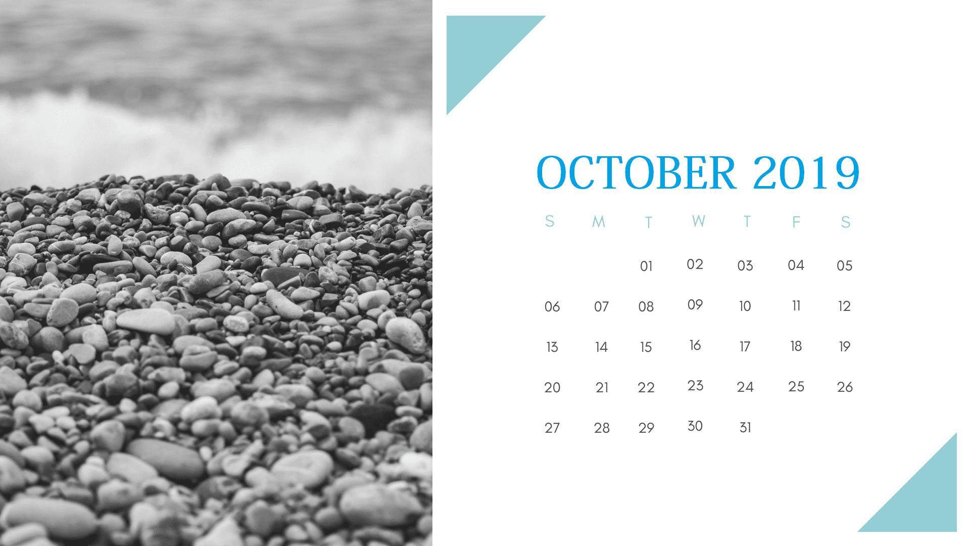 Nature Frame October 2019 Calendar