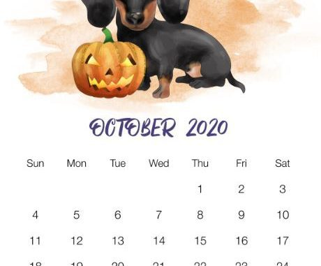 The Best Free Printable Wall Printable Calendar October 2020 Pics