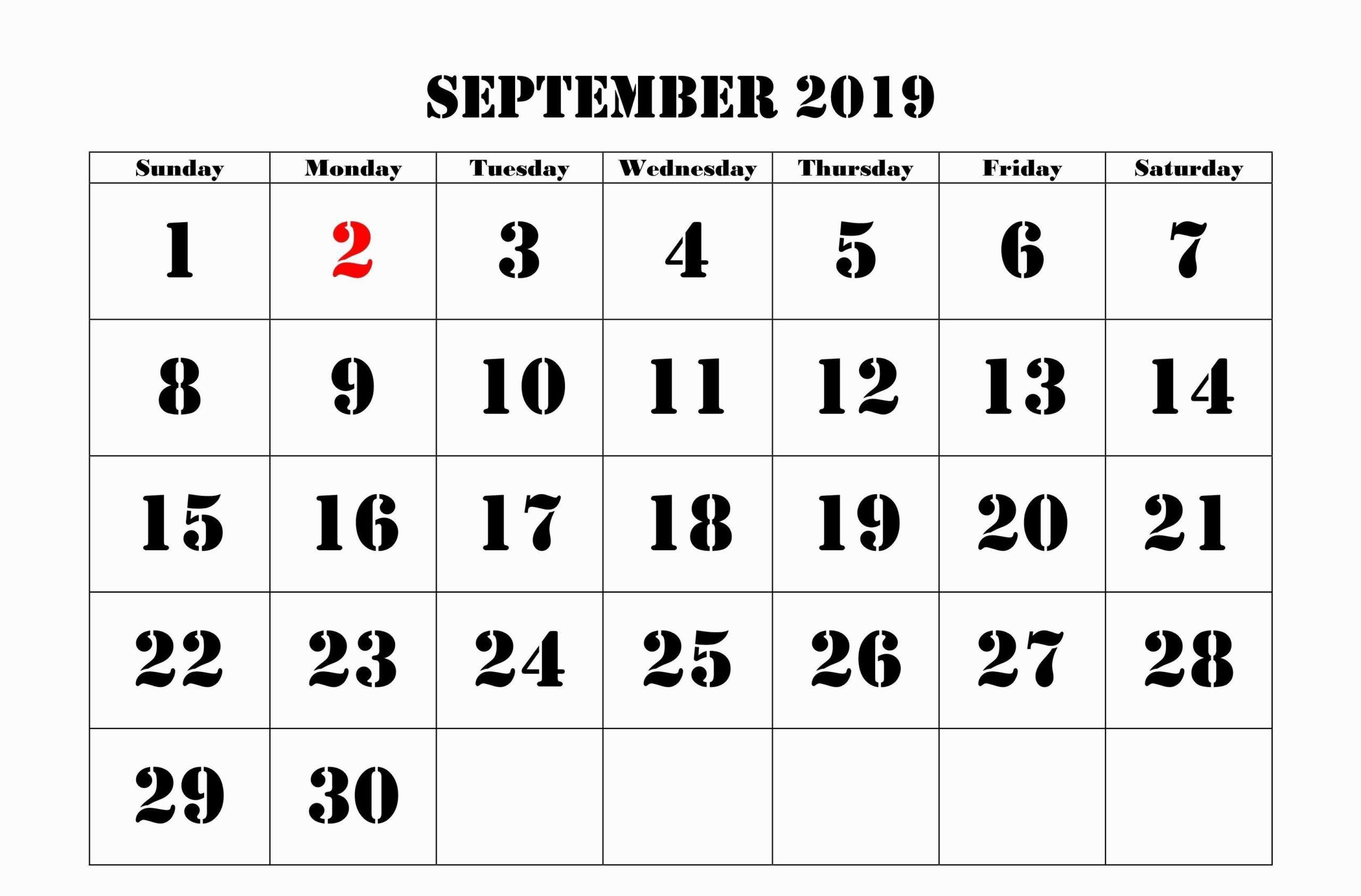 Printable Moon Phases for September 2019 Calendar