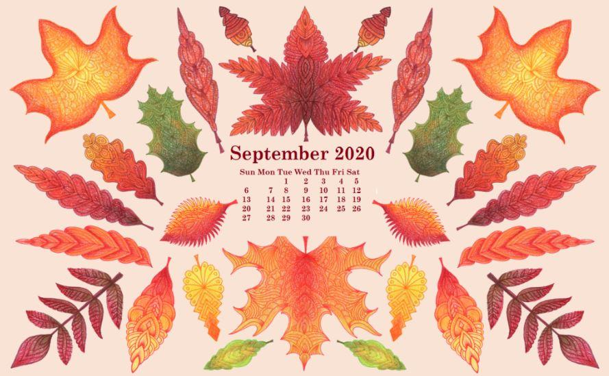 September 2020 Calendar HD Wallpaper