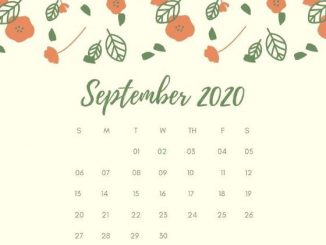 September 2020 Calendar Wallpaper for Desktop