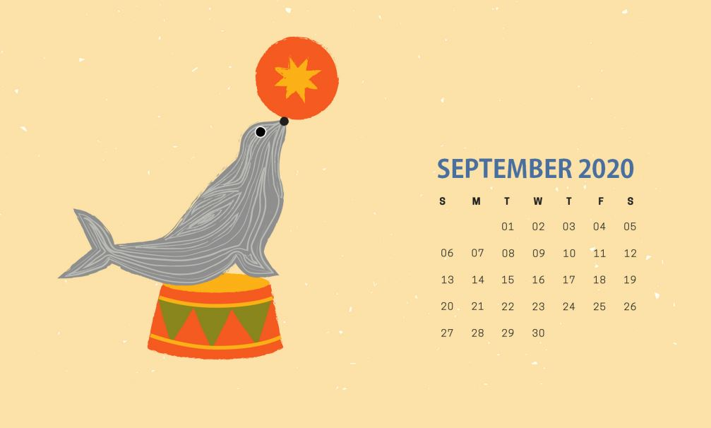 September 2020 Calendar Wallpaper