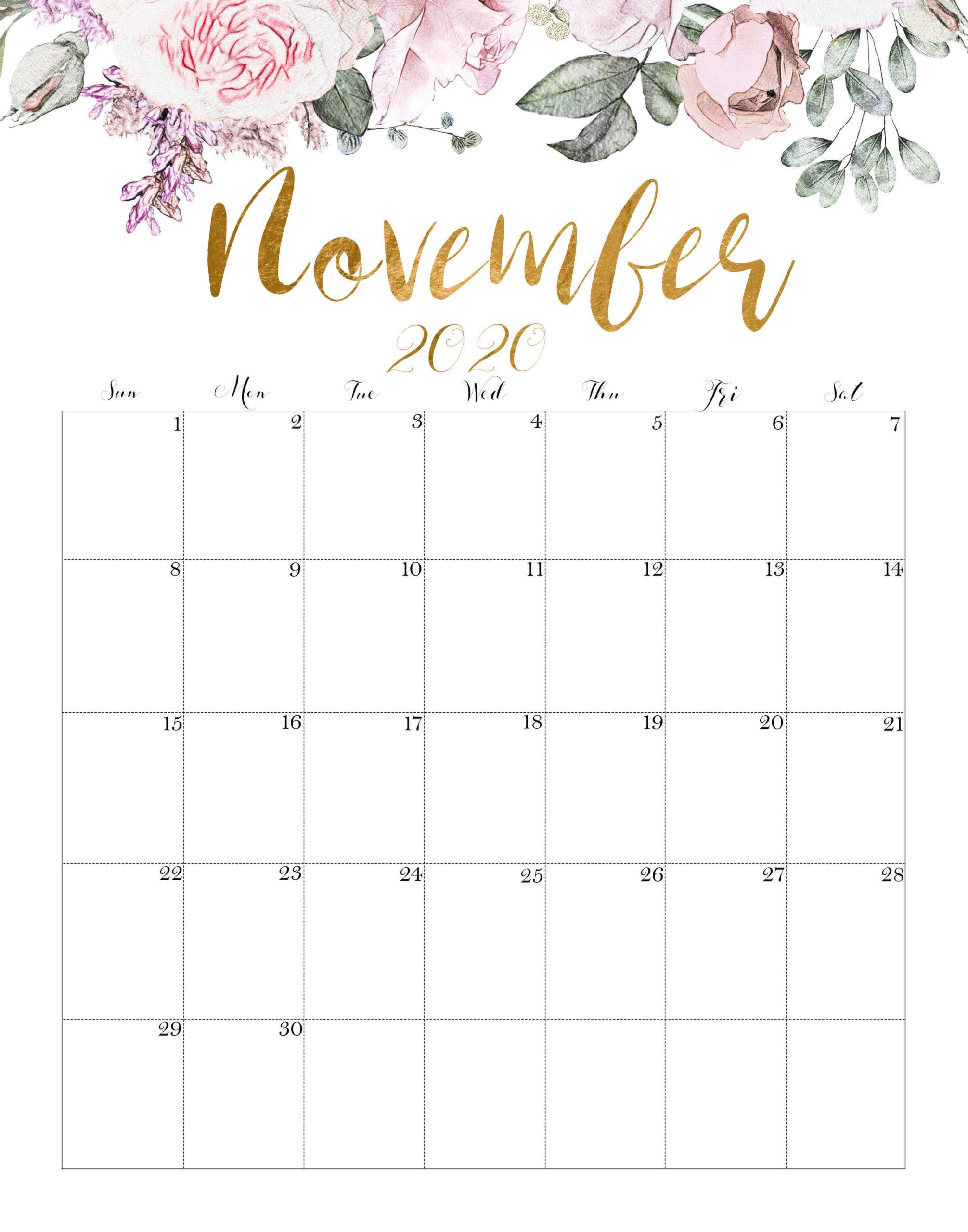 Calendar November 2020 Cute
