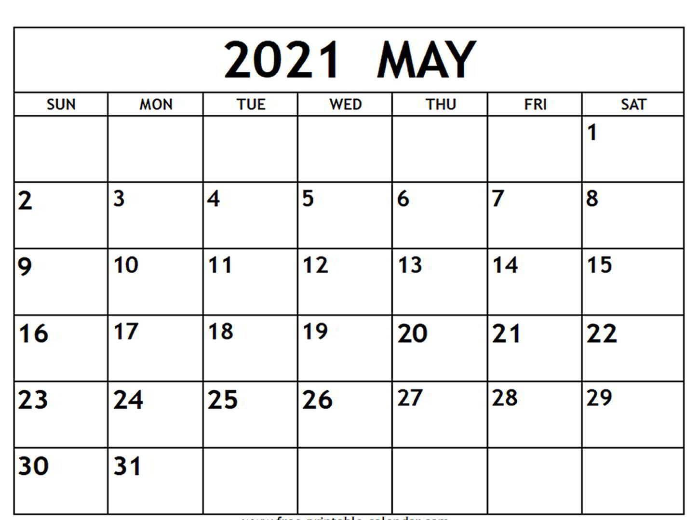 May 2021 Calendar Word