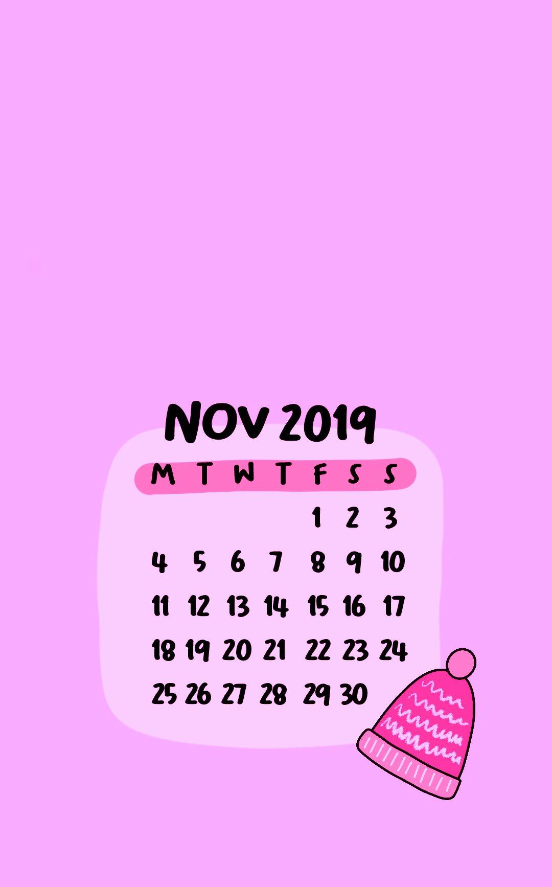 November 2019 iPhone Calendar