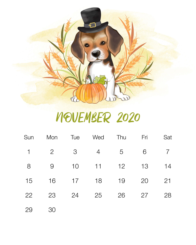 November 2020 Wall Calendar