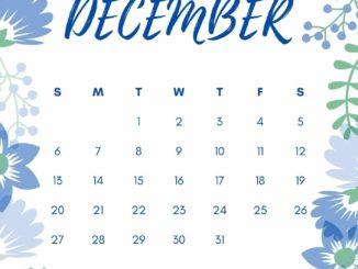 Floral December 2020 Calendar Wallpaper
