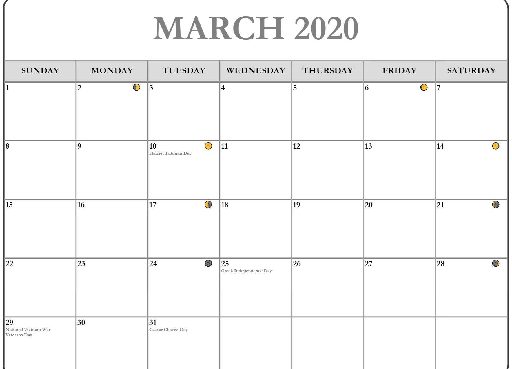 March 2020 Calendar With Holidays Australia