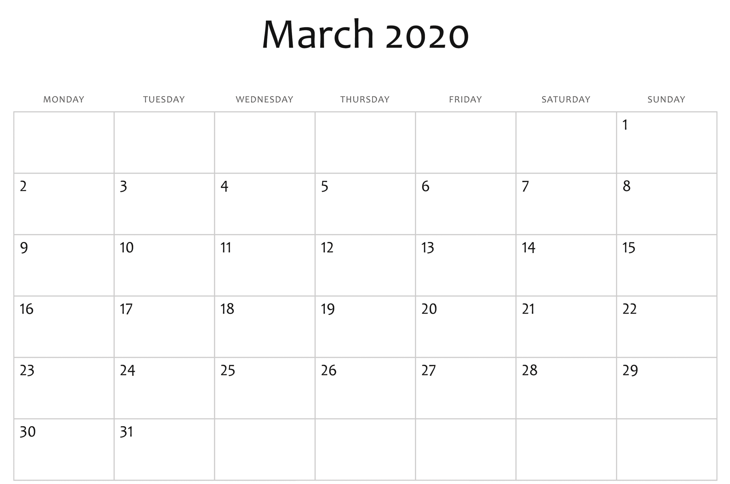 March 2020 Calendar With Holidays India