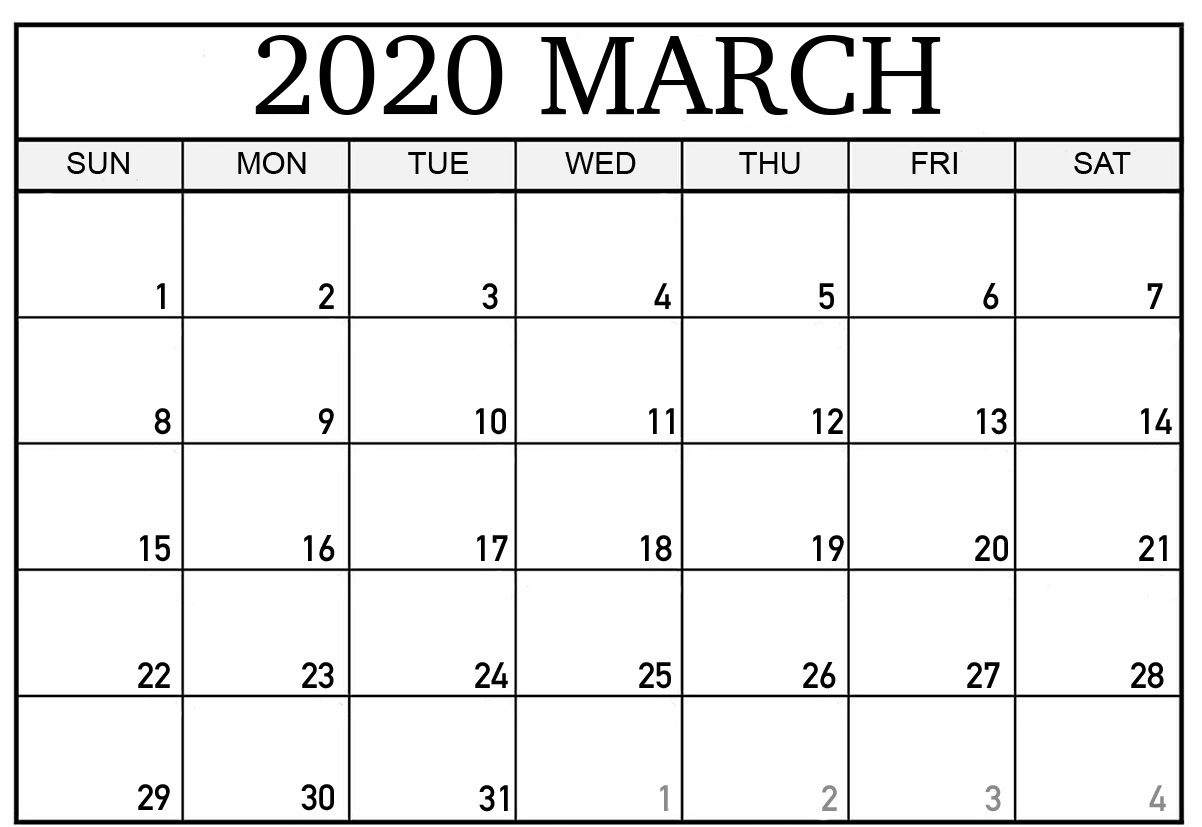 March Calendar 2020 Printable.Free Printable March Holidays 2020 Calendar In Us Uk