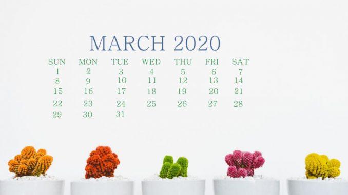 Beautiful March 2020 Screen Wallpaper
