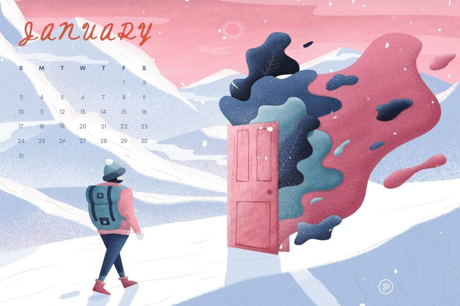 January 2021 Calendar Wallpaper For Desktop