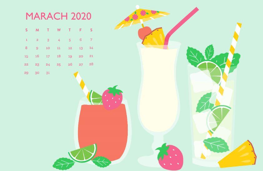 Latest March 2020 Calendar Wallpaper