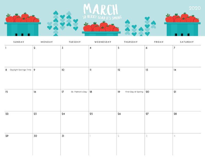 March 2020 Calendar Wallpaper for Desktop