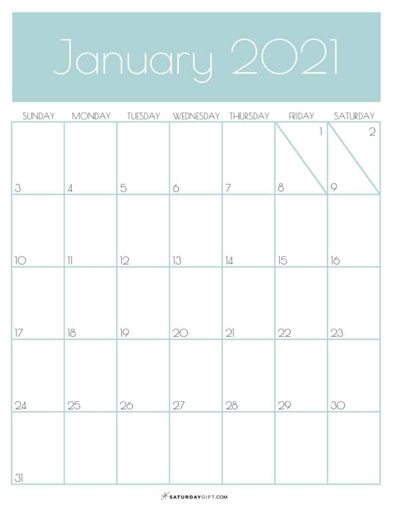 Monthly Cute January 2021 Office Wall Calendar