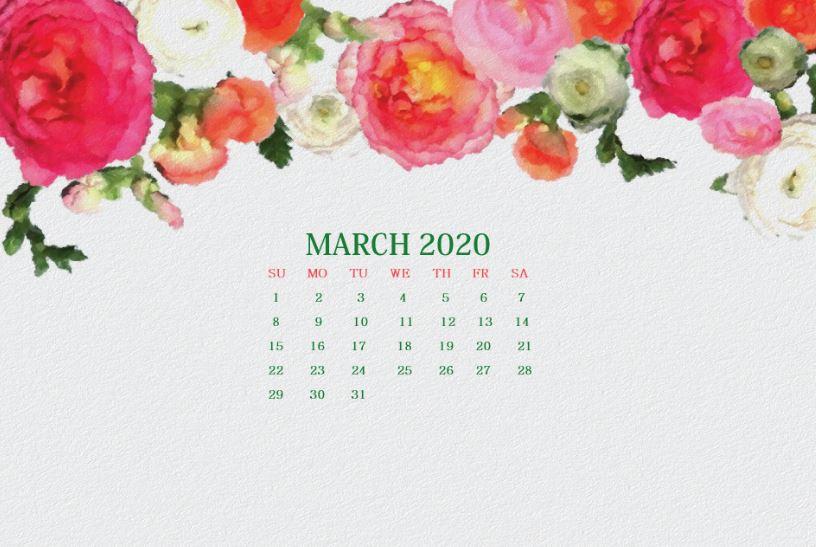 Watercolor March 2020 Wallpaper