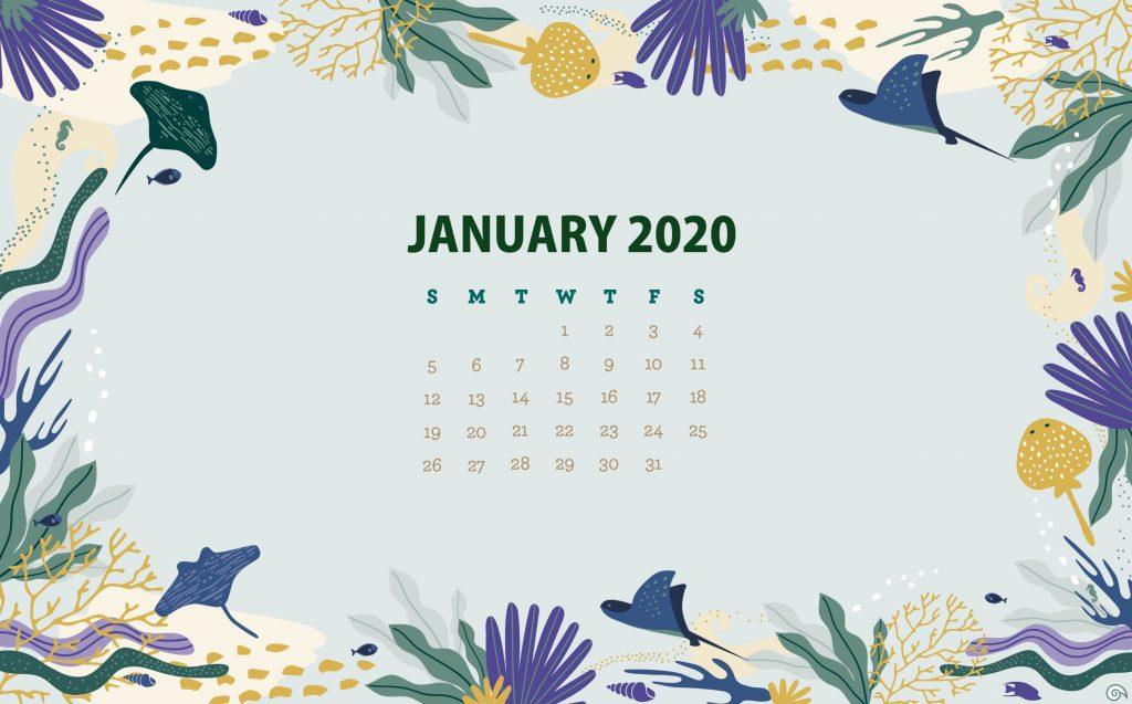 January 2020 Wallpaper Background