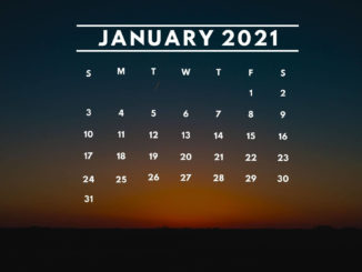 January 2021 Calendar Desktop Background Wallpaper