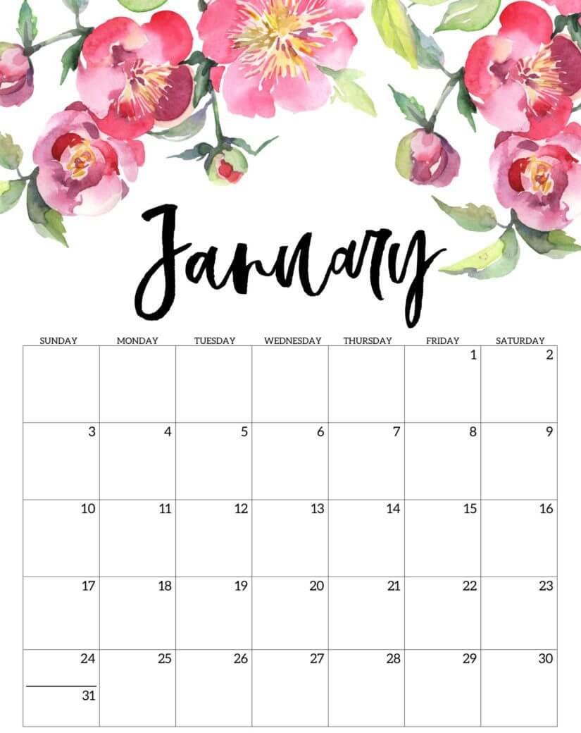 January 2021 Cute Calendar