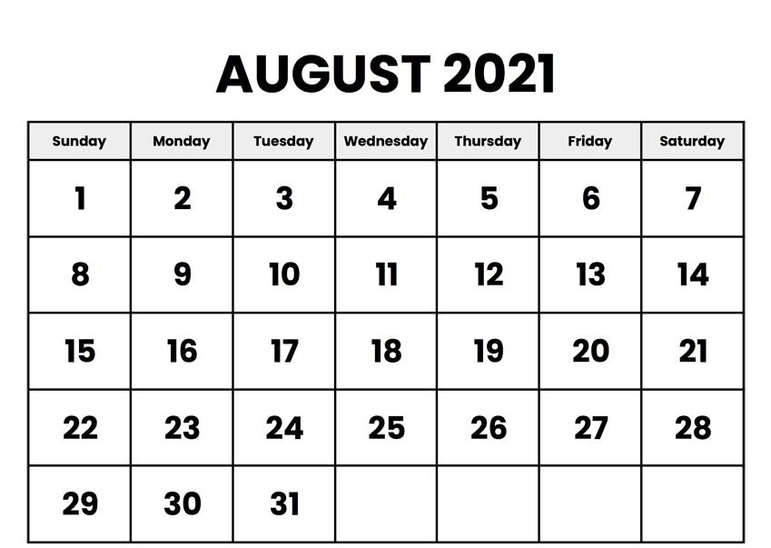 editable august calendar 2021