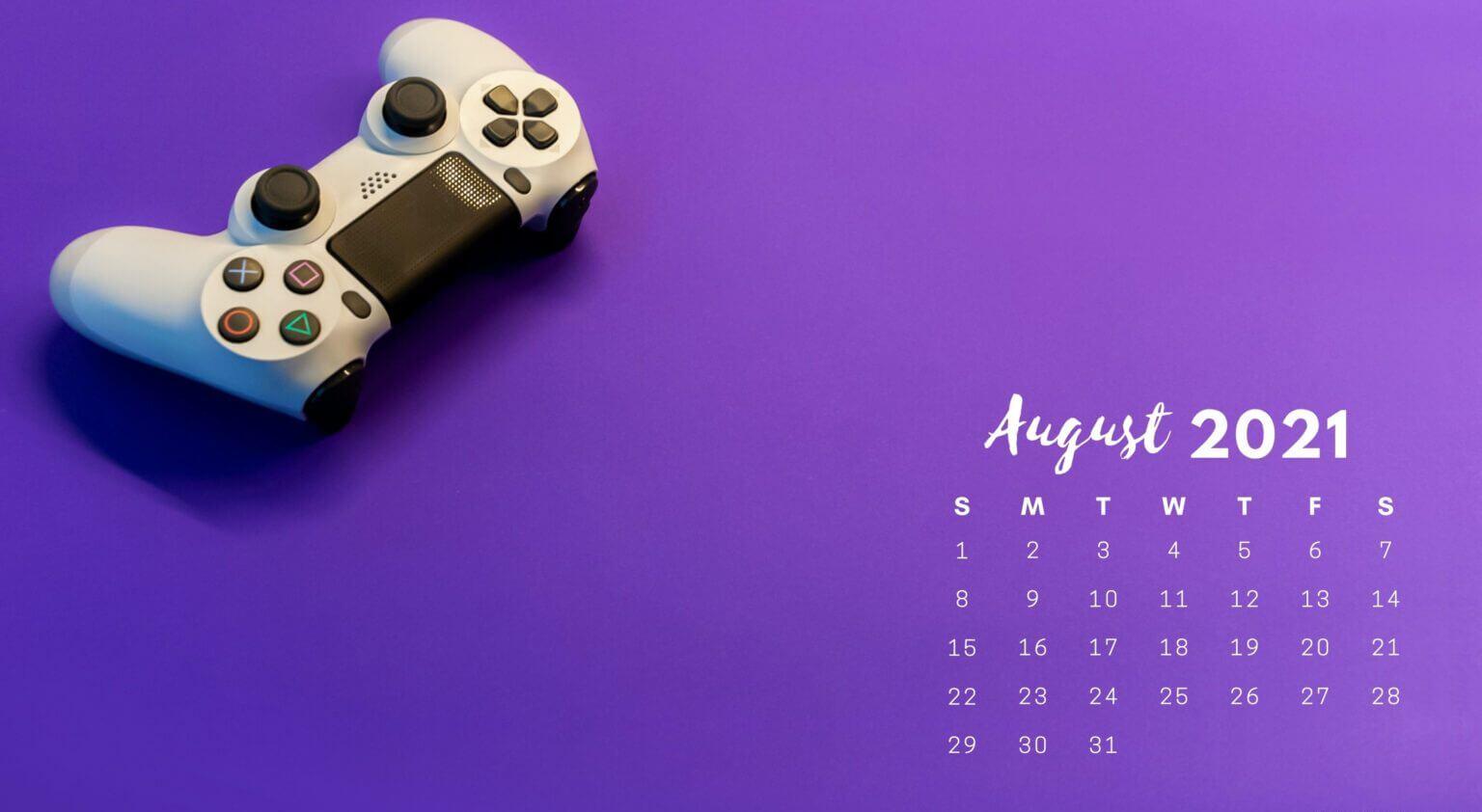 August 2021 Calendar Wallpaper For Laptop