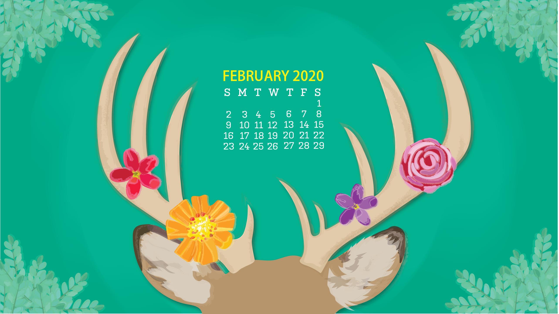Calendar of February 2020 Cute