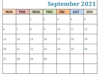 Fillable Calendar For September 2021 Printable Editable Template with Notes 1