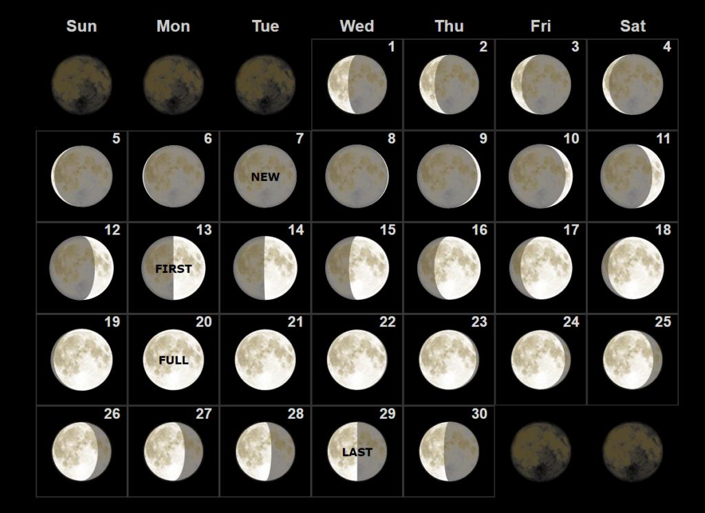 Lunar September 2021 Calendar