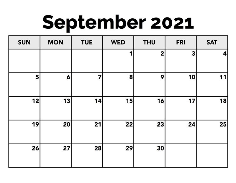 September 2021 Calendar Planner