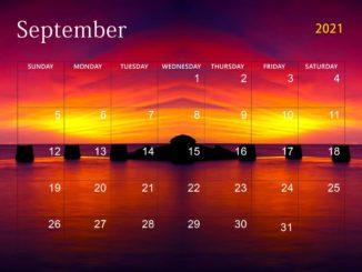 September 2021 Desktop Calendar Wallpaper