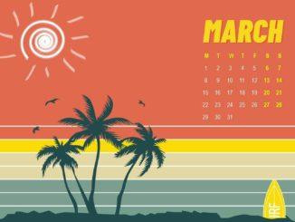 March 2021 Calendar Wallpaper