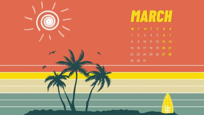 March 2021 Calendar Wallpaper