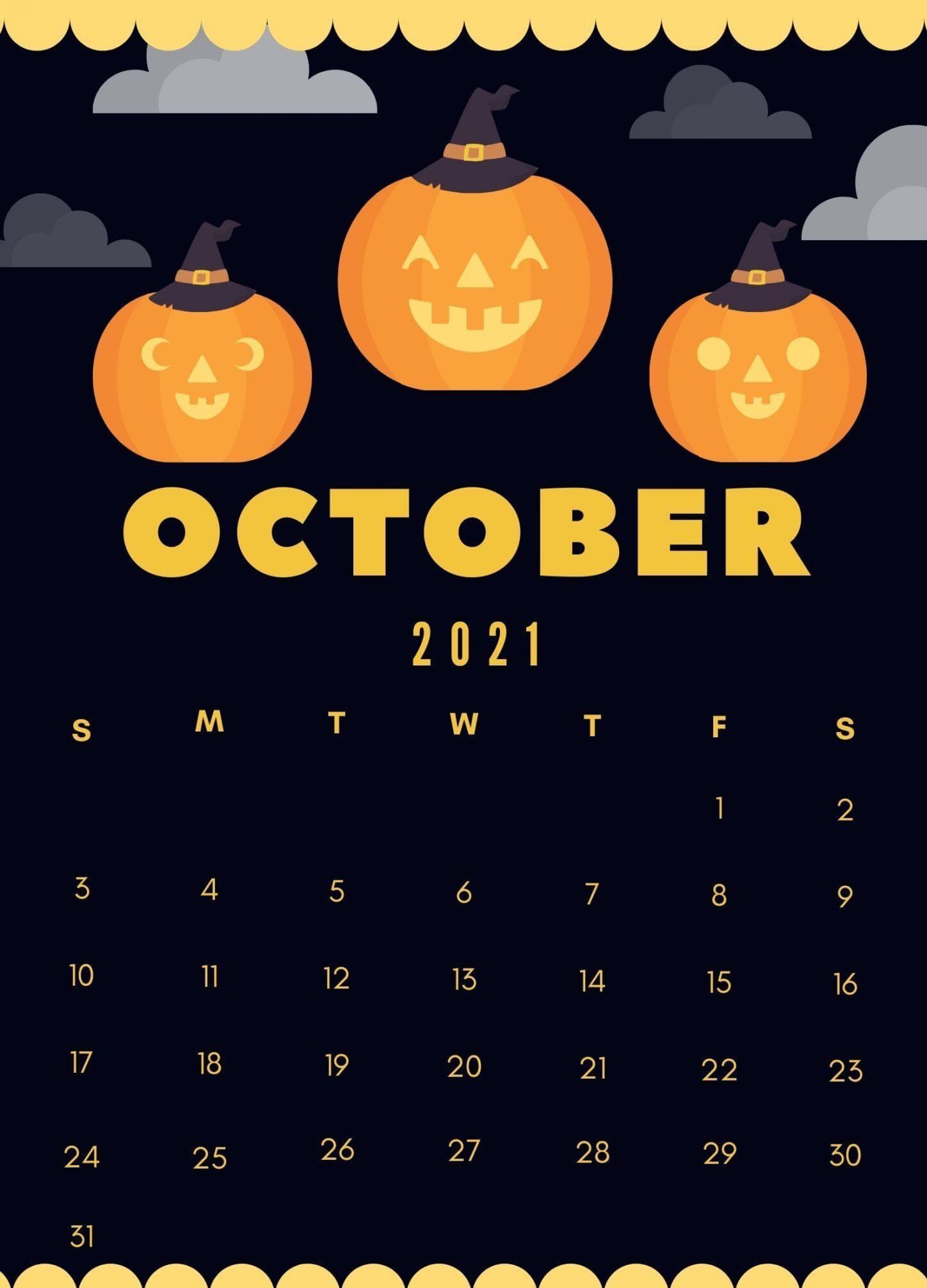 October 2021 Cute Calendar Design