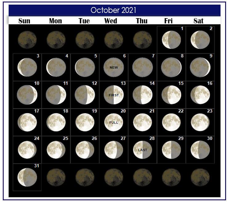 October 2021 Lunar Calendar