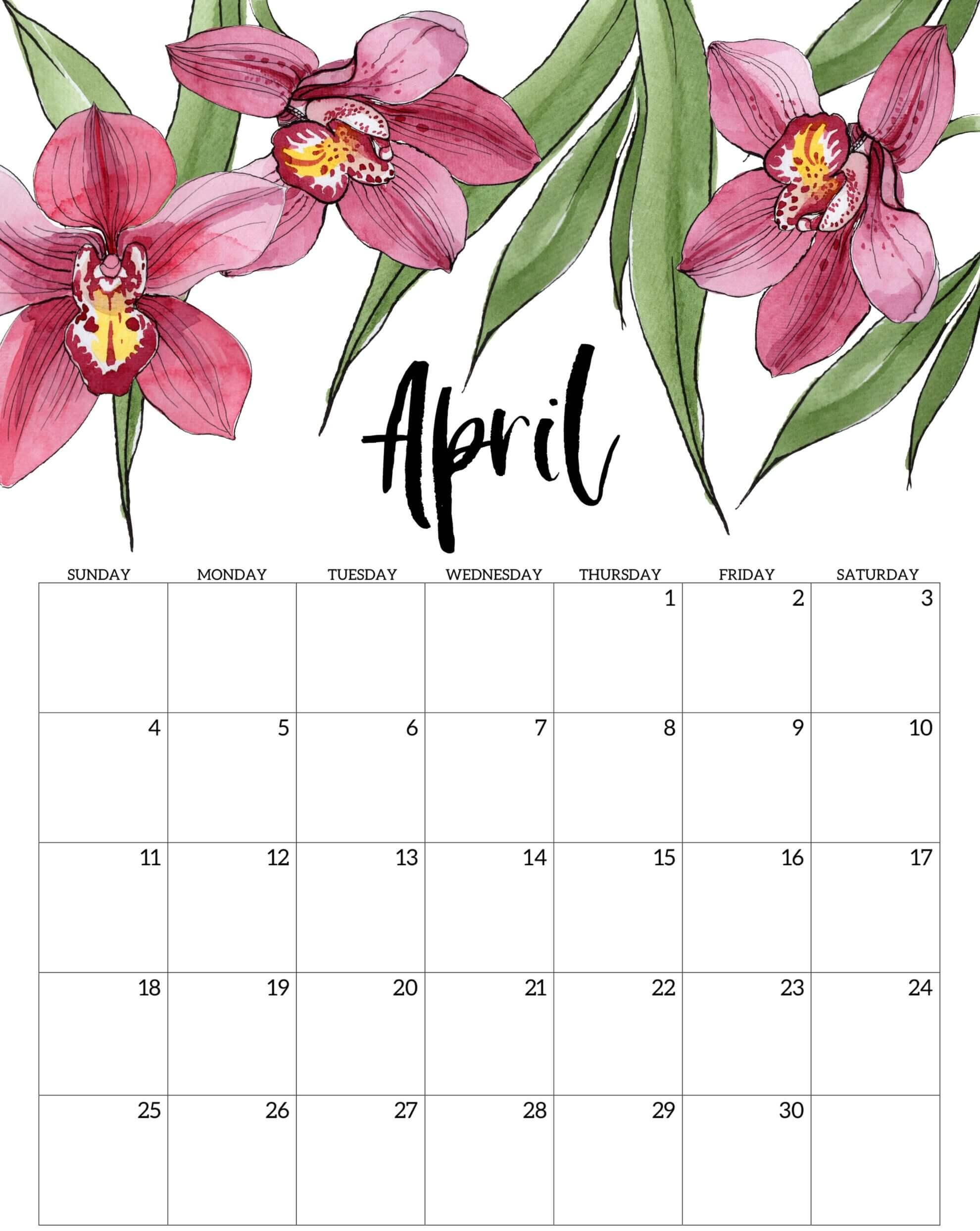 April 2021 Floral Calendar