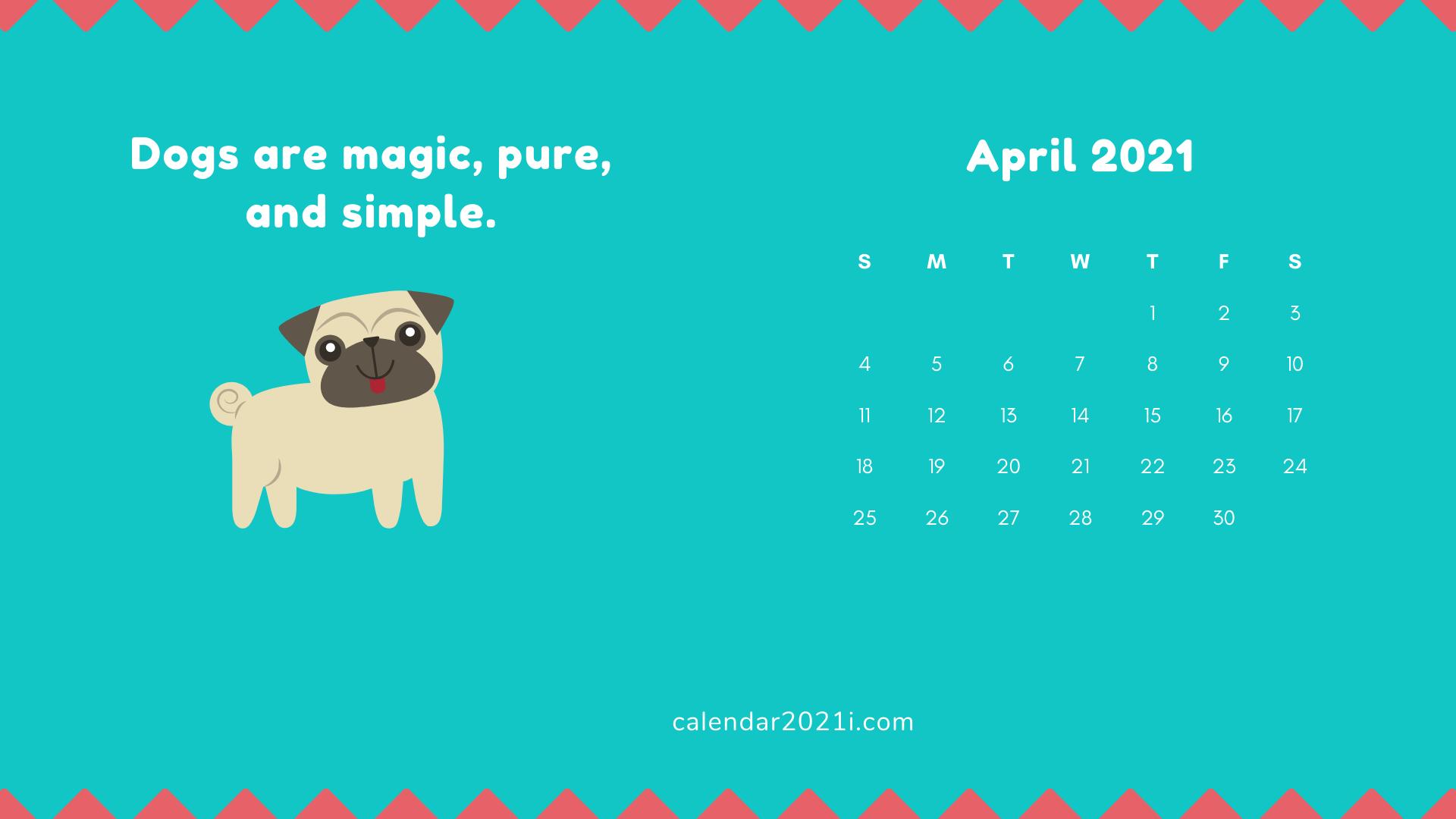 April 2021 HD Calendar Wallpaper
