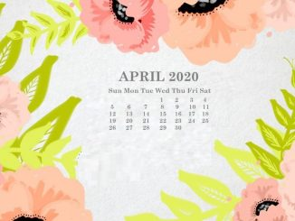 April Calendar 2020 Wallpaper