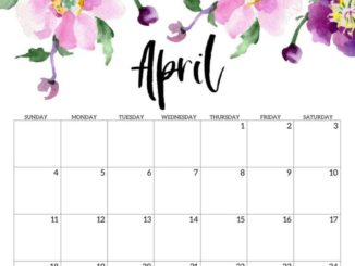 Cute April 2021 Calendar Design
