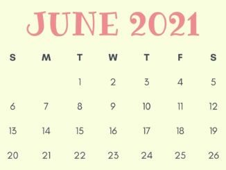 Floral June 2021 Calendar Wallpaper