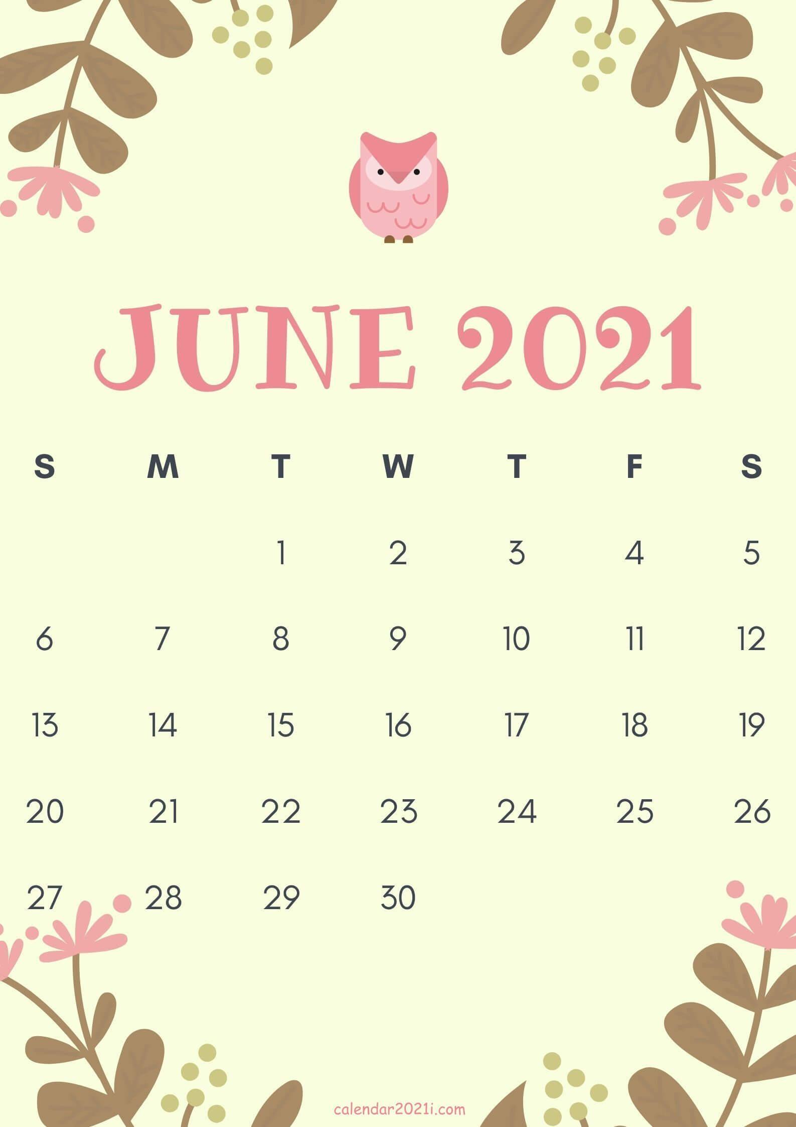 Floral June 2021 Calendar Wallpaper
